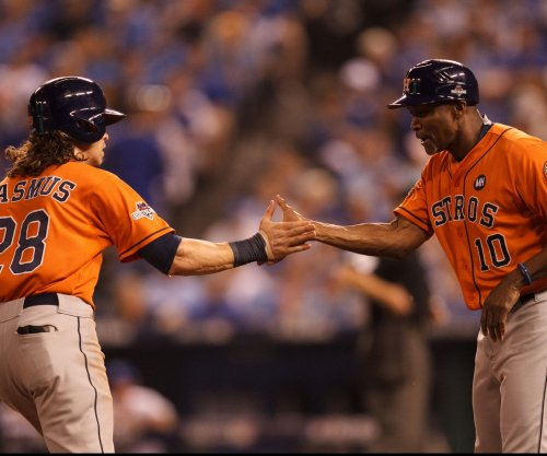 Road-rampaging Houston Astros rip Kansas City Royals in Game 1