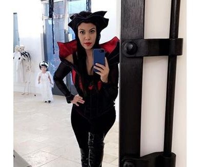 Kourtney Kardashian, daughter celebrate early Halloween