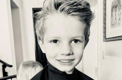 Jessica Simpson shows off son Ace's short new hair