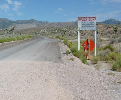 UFO activists who vowed to storm 'Area 51' turned away by police, K-9
