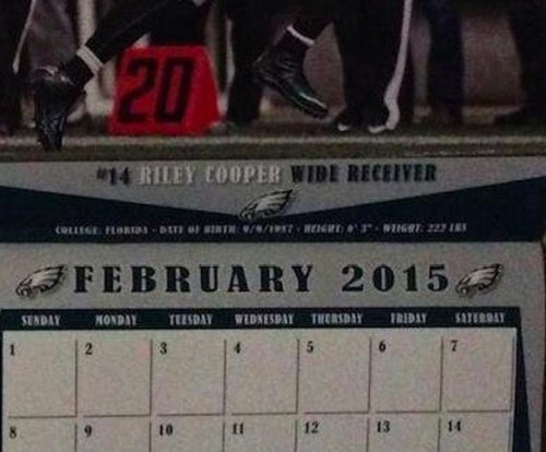 Philadelphia Eagles calendar uses Riley Cooper for Black History Month, team unaware