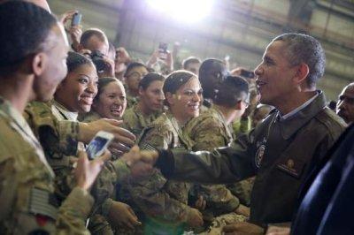 President Obama surprises troops in Afghanistan