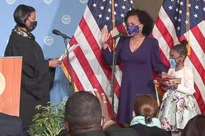 Kim Janey sworn in as first Black, female mayor of Boston