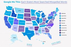 Google Trends analysis reveals each state's most misspelled word