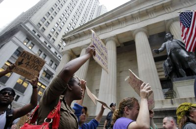 Wall Street protesters morale 'high'