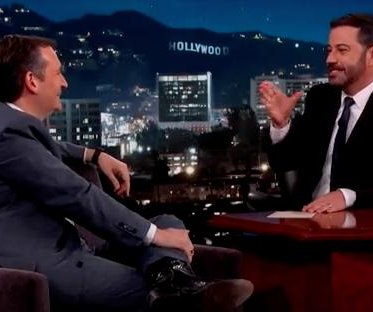 Ted Cruz jokes about running over Trump in 'Jimmy Kimmel' appearance