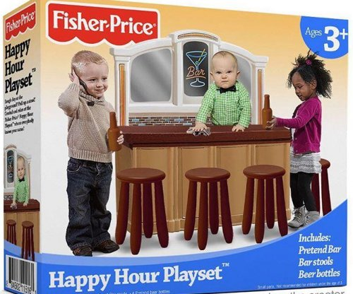 Fisher-Price says bar-based 'Happy Hour Playset' not real after social media outrage
