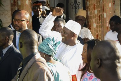 New Gambia President Barrow returns after ousted leader's exile
