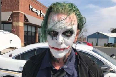 Virginia police arrest sword-carrying Joker dressed as Batman villain