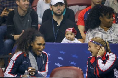 Serena Williams: Baby Alexis watches mom at Fed Cup