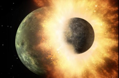 Collision that formed the moon also brought Earth water, planetary scientists claim