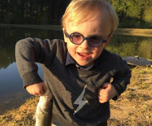 Chris Pratt goes fishing with his son in video