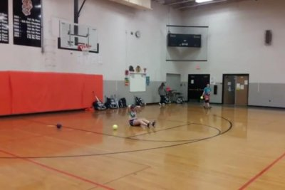 Illinois softball pitcher's mad dodgeball skills go viral