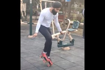 Watch: Man skips rope 147 times in 30 seconds while wearing skates