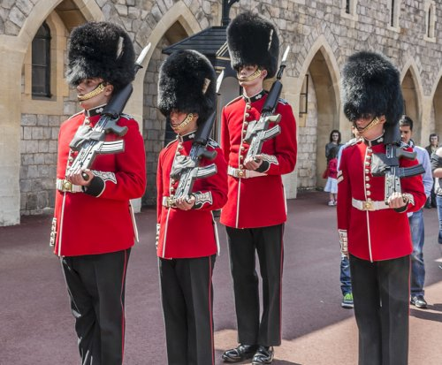 Queen's guards moved over terrorism fears