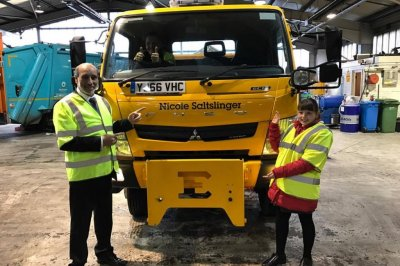 British town names road gritter after Nicole Scherzinger
