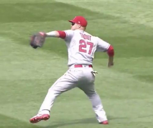 Angels star Mike Trout gets outfield assist with 91.7 mph throw