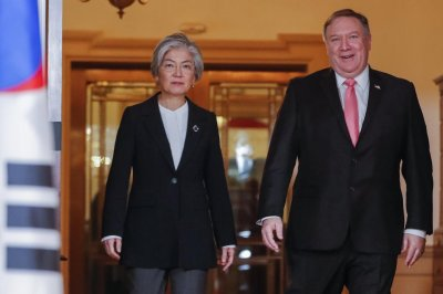 Pompeo meets with South Korea's top diplomat after Bush's funeral