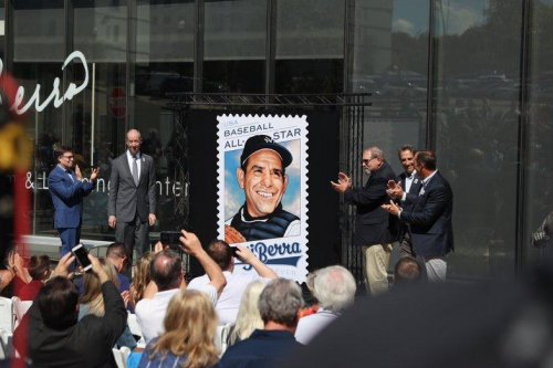 U.S. Postal Service honors Yankees legend Yogi Berra with stamp