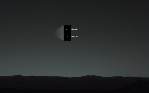 Rover on Mars snaps photo of Earth, shining like an 'evening star'