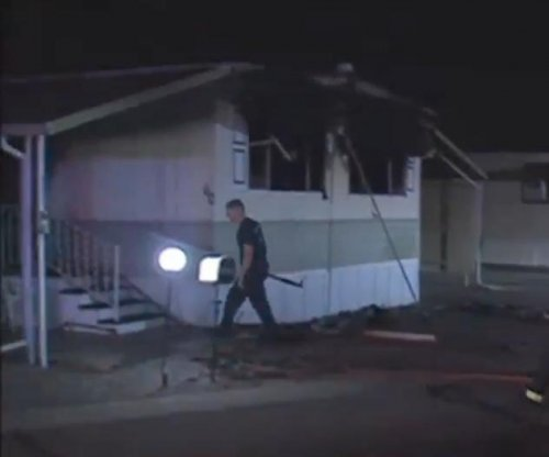 Arizona man sparks trailer fire trying to burn spider webs