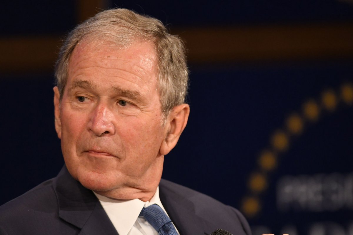 File Photo: U.S. President George W. Bush speaks during a Veterans Day  event at