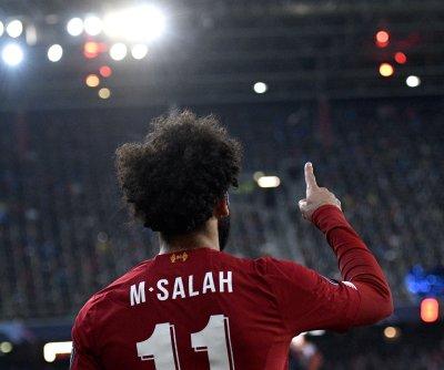 Champions League soccer: Liverpool's Mohamed Salah curls sniped score vs. Salzburg
