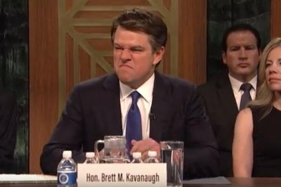 Matt Damon plays Brett Kavanaugh in 'Saturday Night Live' premiere
