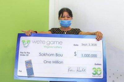Virginia woman wins $1M lottery jackpot on her birthday