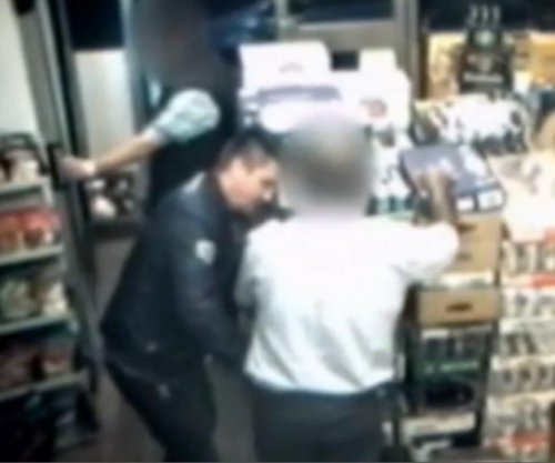 CCTV footage shows apparent hypnotist robbery