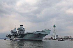 HMS Queen Elizabeth starts exercise ahead of around-the-world deployment