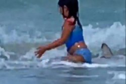 Mom's video captures 6-year-old fleeing from shark at Hawaii beach