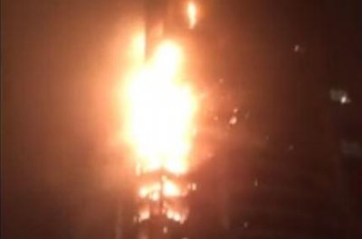 World's tallest residential building catches fire in Dubai