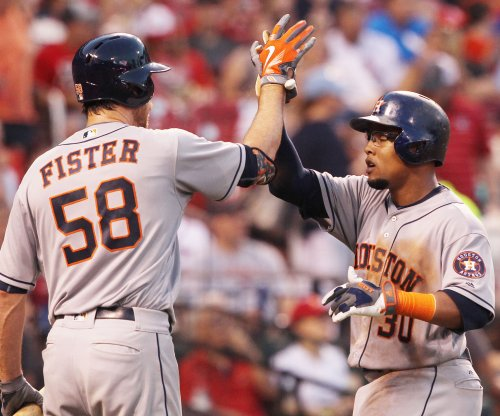 Houston Astros' Doug Fister shuts down Oakland Athletics