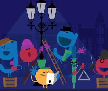 Google pays homage to caroling in new holiday-themed Doodle
