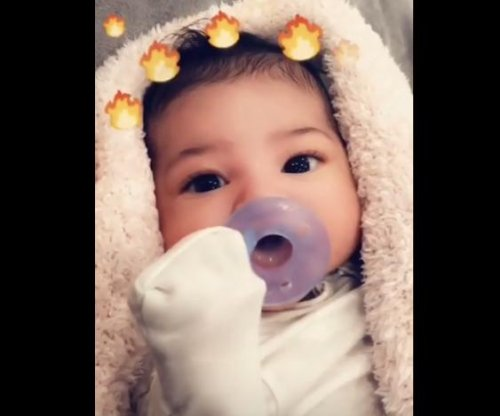 Kylie Jenner posts first photo of daughter Stormi's face