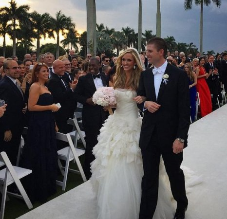 Donald Trump's son Eric marries Lara Yunaska