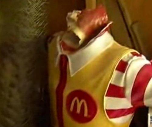 Vandals burn, decapitate and dismember Ronald McDonald