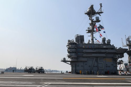 USS Harry Truman leaves port after three months of maintenance, training