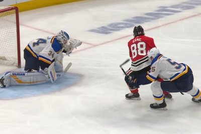 Chicago Blackhawks' Patrick Kane tucks gorgeous backhander into net