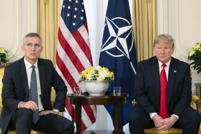 Stoltenberg, Trump agree NATO could do more in Middle East