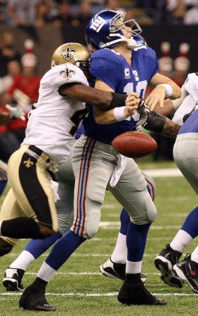 NFL: New Orleans 48, New York Giants 27