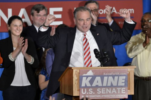 Tim Kaine defeats George Allen for U.S. Senate in Virginia