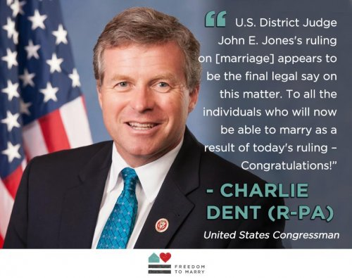 Republican Rep. Dent changes mind to support gay marriage