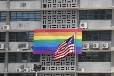 U.S. embassy in South Korea takes down rainbow flag