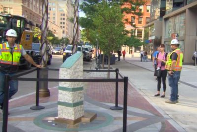 Memorial completed for three killed in Boston Marathon bombing