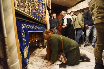 Bethlehem church shows off 1,600-year-old mosaics ahead of Christmas