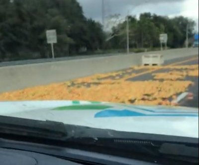 Truck spills load of grapefruit onto Florida's Turnpike