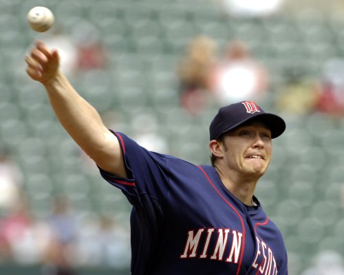 Twins pitcher Baker out with groin strain