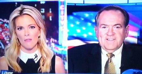 Megyn Kelly flubs Mike Huckabee's name with expletive slip
